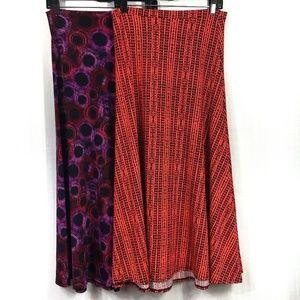 Pair of LuLaRoe Maxi Skirt Size XS